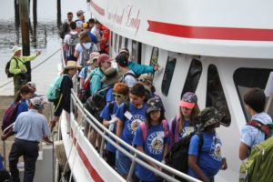 Living Science Students on the boat to Cumberland Island