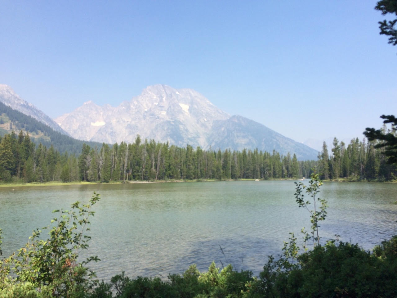 String Lake with Tetons in background