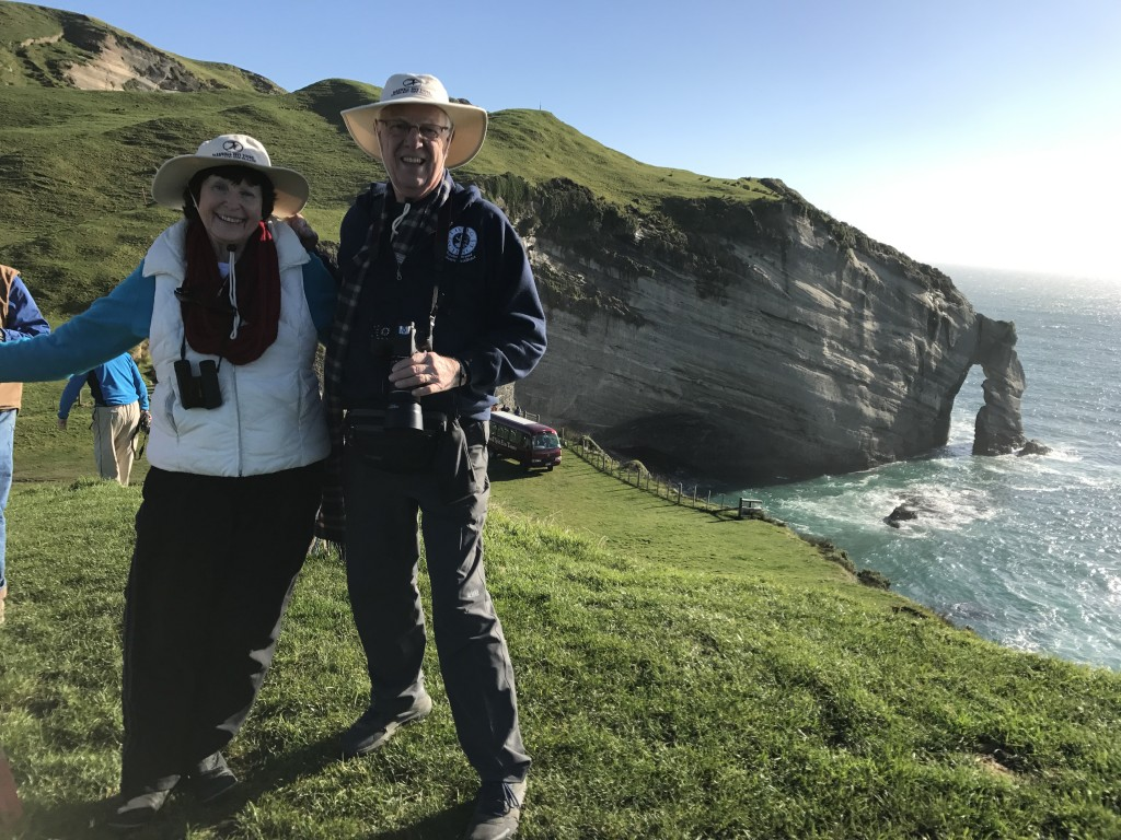 Mr. and Mrs. D on New Zealand Cliff