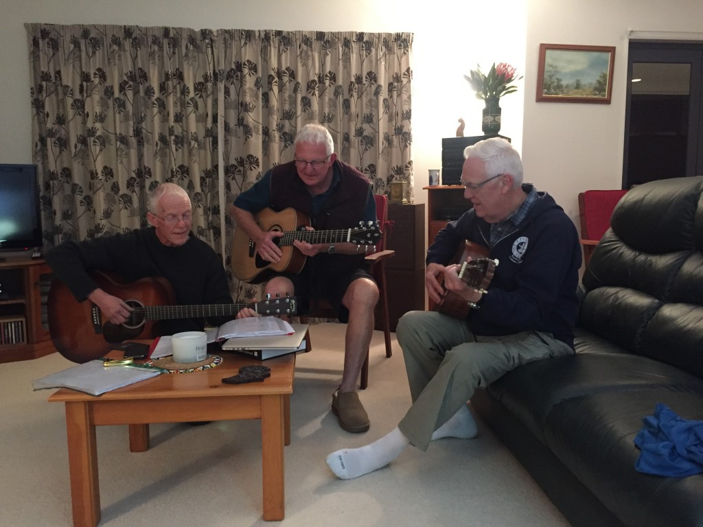 Mr. D and brothers in New Zealand