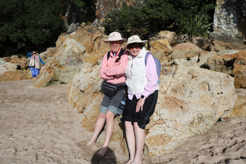 Mr. and Mrs. D on the rocks in New Zealand